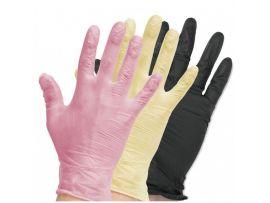 Перчатки виниловые цветные, неопудренные