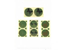 Стикини для солярия с защитой для родинок, 50 мм, 50 пар