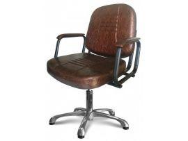 Парикмахерское кресло Бриз (пневматика, хром)