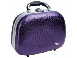 Чемодан для парикмахерских инструментов DEWAL , иск.кожа, фиолетовый 26,0x13,0x19,0см