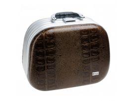 Чемодан для парикмахерских инструментов DEWAL, иск.кожа, коричневый 30,5x16,0x23,0см