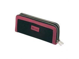 Футляр для ножниц DEWAL, полимерный материал, двойной, черно-розовый 9х21см