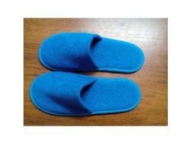 Тапочки махровые синие на антискользящей подошве с закрытым мысом, р-р 43-45, пара